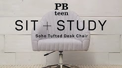 Soho Tufted Desk Chair - Sit + Study | PBteen