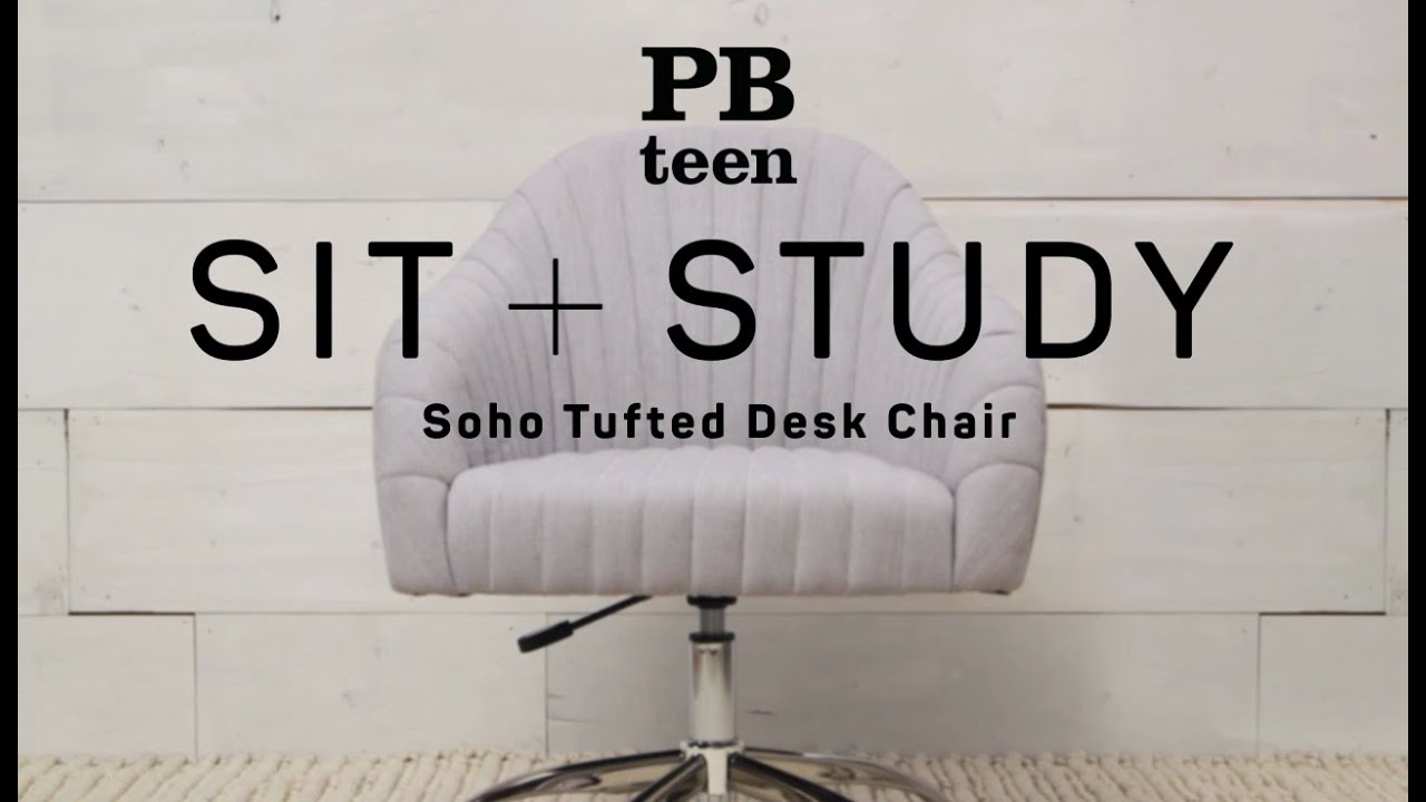 soho tufted desk chair sit study pbteen - Tufted Desk Chair
