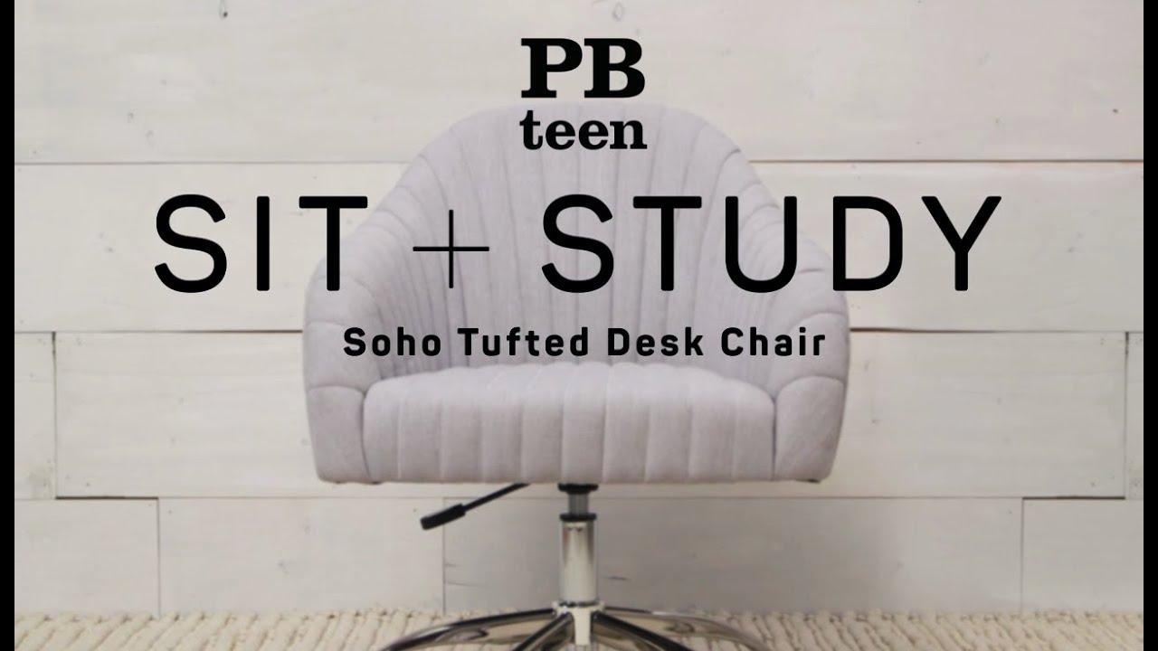 soho tufted desk chair sit study pbteen