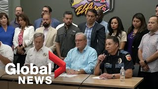 El Paso Police confirm 20 dead, 26 injured in mass shooting