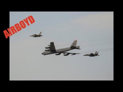 """B-52 Bomber """"Deterrence"""" Flight - South Korea"""