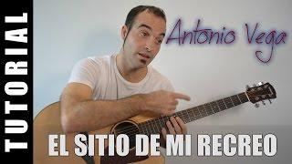 Como tocar El sitio de mi recreo - Antonio Vega (Guitarra FACIL tutorial acordes)