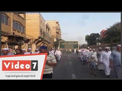 انطلاق موكب الطرق الصوفية من مسجد الجعفرى احتفالا بالهجرة النبوية