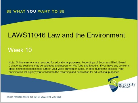 LAWS11046_10 Law and the Environment