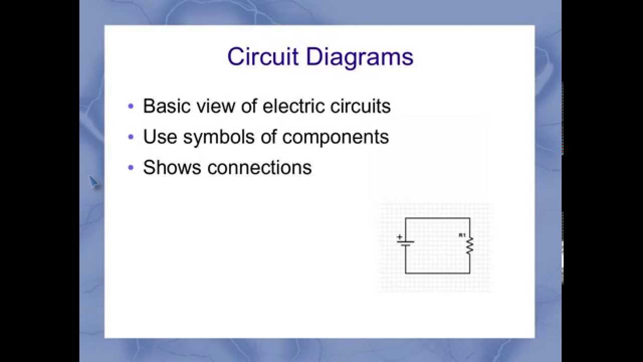 Circuit Diagram Symbols Youtube With