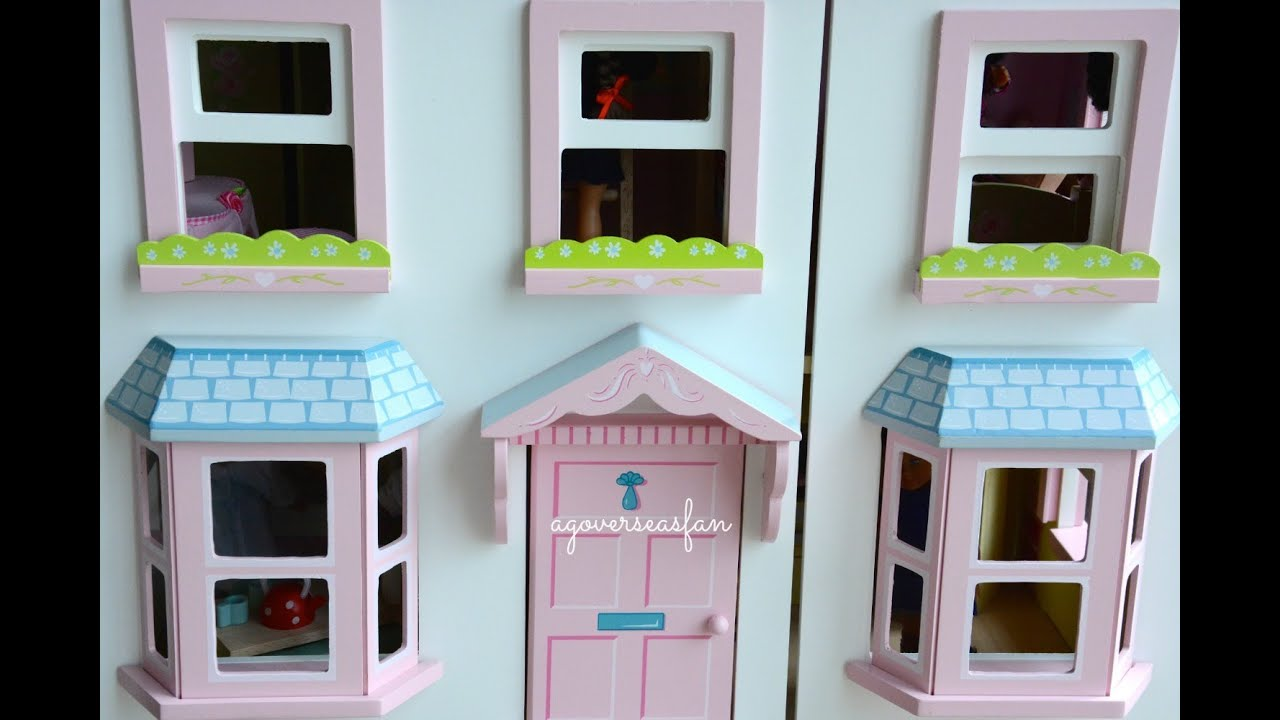 setting up american girl doll house with furniture and dolls - youtube