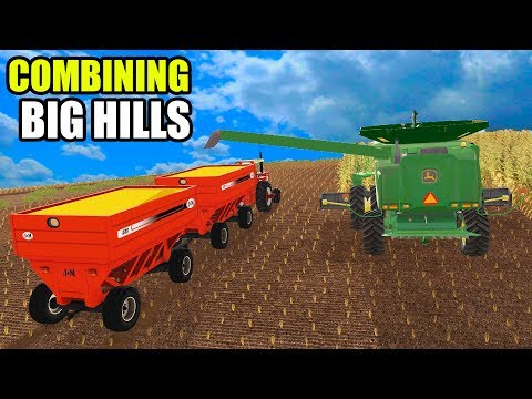 JOHN DEERE 9570 CAN BARELY MAKE IT UP THE HILLS | EP#9 | FARMING SIMULATOR 2017