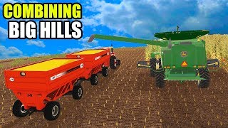 JOHN DEERE 9570 CAN BARELY MAKE IT UP THE HILLS   EP#9   FARMING SIMULATOR 2017