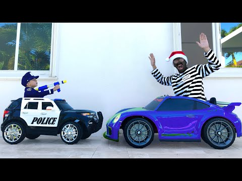 POLICE Baby SENYA Unboxing And Pretend Play With Police Car
