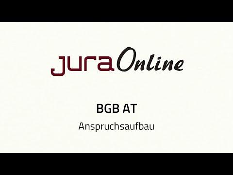 BGB AT - Anspruchsaufbau