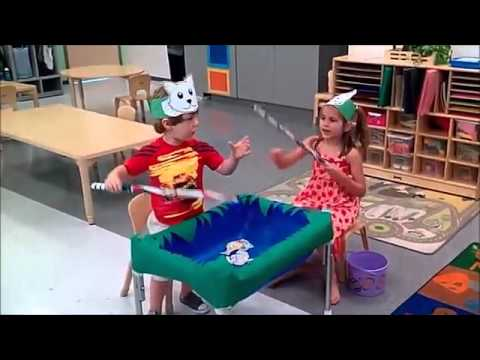 A great fun to watch american kids in chinese role play for Cats go fishing