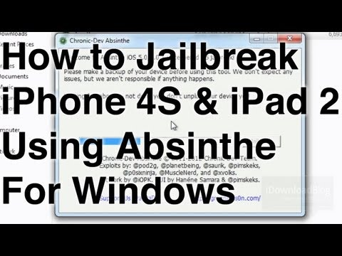 How to Jailbreak the iPhone 4S and iPad 2 on Windows Using Absinthe!