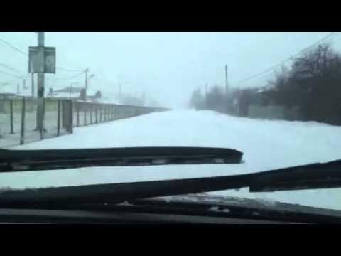 Snow adventure in Giurgiu, Romania