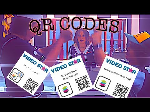 Qr codes video star (transitions, 3d, coloring)