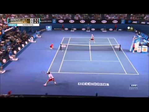 wawrinka vs Berdych aus open 2014