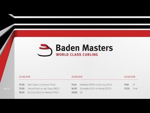 World Curling Tour, Baden Master 2018, Team Edin (SWE) vs Team Doronin (RUS))