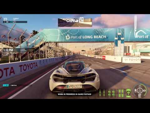 Project CARS 2 - Mclaren 720s Long Beach Grand Prix Chase Footage