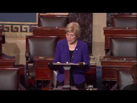 Senator Elizabeth Warren Stands Against Judge Thapar