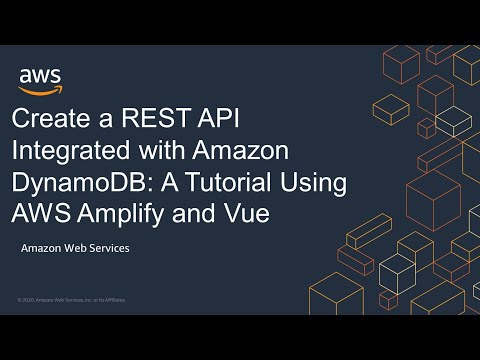 Create a REST API Integrated with Amazon DynamoDB: A Tutorial Using AWS Amplify and Vue
