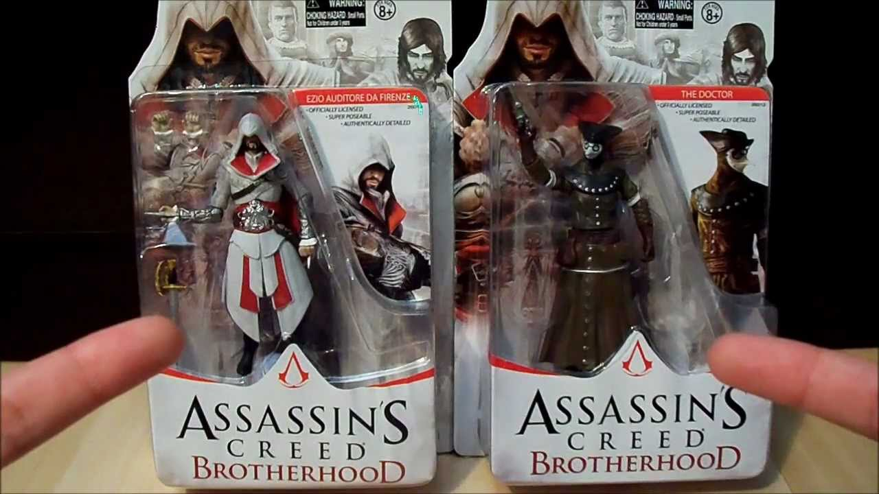 Assassin S Creed Brotherhood 4in Figure Toy Review Ezio And The Doctor Youtube