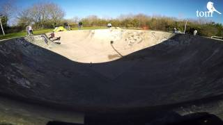 GoPro Bowl Skateboarding - Tucking Mill Skate Park, Camborne, Cornwall