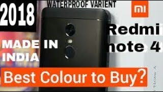 UNBOXING OF REDMI NOTE 4 2018(waterproof variant) .