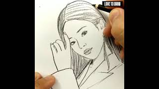 VERY EASY , how to draw jennie blackpink / learn drawing tutorial