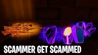 This SCAMMER Says His Nan Works At EPIC GAMES And WILL Get Me Banned! | Fortnite STW