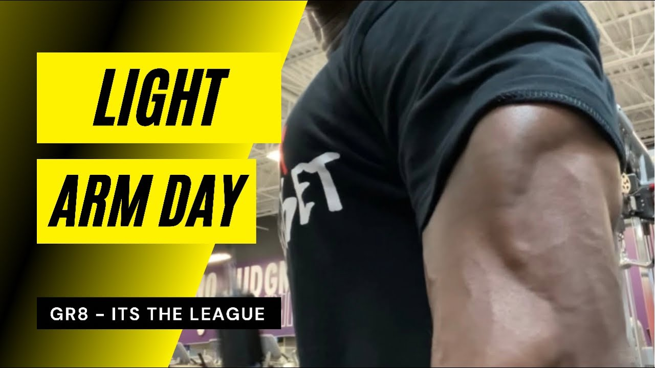 Get Huge Arms With Light Arm Day | Gr8 | LoEG | It's The League