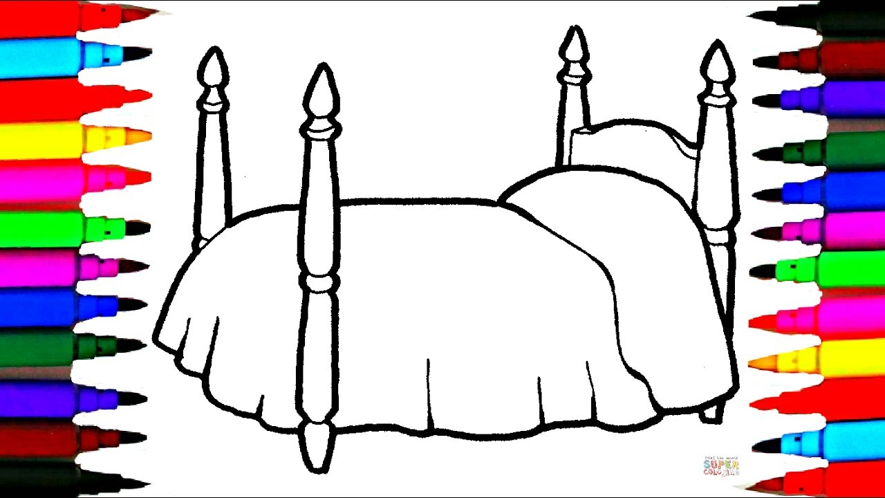 learn rainbow colors l girls bed coloring pages l art for kids