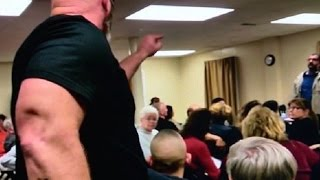 Man Bullies Muslim At Town Hall