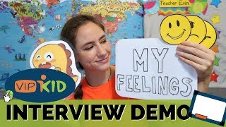 "VIPKID INTERVIEW DEMO LESSON ""My Feelings"" (SLIDE-BY-SLIDE) Walk-Through + HOW TO PASS"