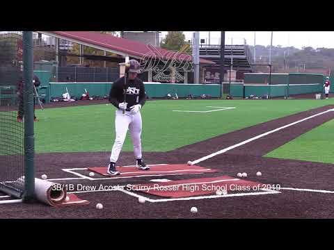 3B/1B Drew Acosta Scurry Rosser High School Class of 2019