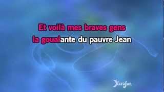 Karaoké La goualante du pauvre Jean - Edith Piaf *