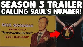 Better Call Saul Season 5 NEW Teaser Trailer EXPLAINED! Calling Saul's Number!