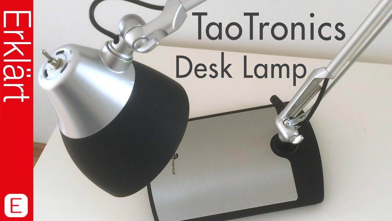 Augenfreundliche schreibtischlampe taotronics led tischlampe augenfreundliche schreibtischlampe taotronics led tischlampe test review deutsch youtube parisarafo Choice Image