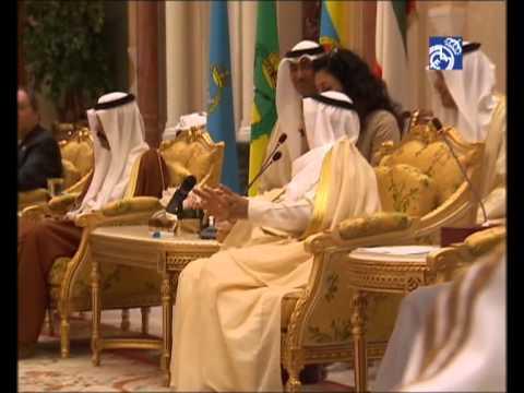 Recepción oficial del Real Madrid con el emir de Kuwait