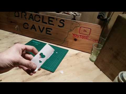 HOW TO MAKE GLASS ETCHING STENCILS EASY