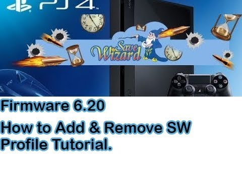 PS4 Save Wizard Tutorial - How to Add and Remove Profile..