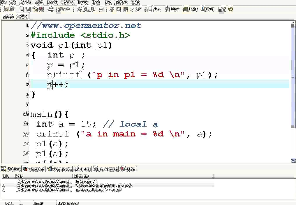 how to create a variable in c