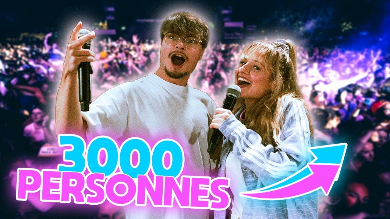 Une journée pour chanter en concert devant 3000 personnes
