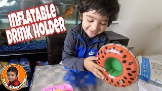 Inflatable Drink Holder Review! Fun For All Ages | Bath Toy Desk Decoration