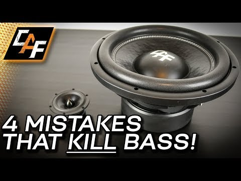 4 Mistakes that Kill Bass - Car Audio Subwoofer Improvements!