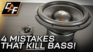 Video 4 Mistakes that Kill Bass - Car Audio Subwoofer Improvements! download MP3, 3GP, MP4, WEBM, AVI, FLV Oktober 2018