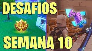 FORTNITE-PUZZLES Y LUGAR DE LA ESTRELLA SECRETA SEMANA 10