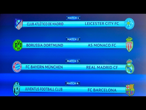 Champions League quarter-final draw: Leicester to face Atlético Madrid – video