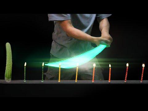 3D펜으로 겐지 용검 만들어서 촛불 10개 끄기 (긱블 vs 사나고)