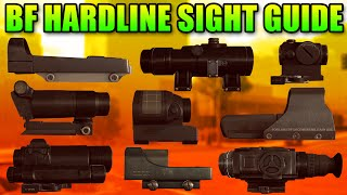 Battlefield Hardline Sight Guide - What Is The Best Scope? (BFH Beta)
