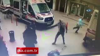 Hastanedeki çifte cinayet anı kamerada