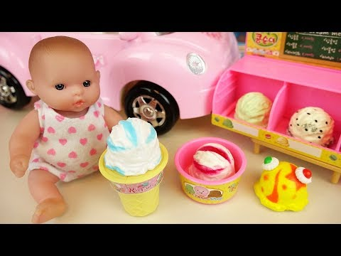 Thumbnail: Ice cream shop and baby doll car toys picnic play